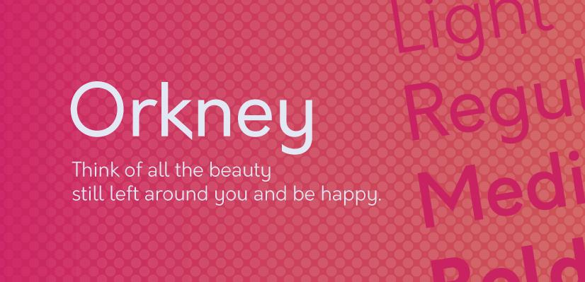 Royalty Free Sans Serif: Orkney