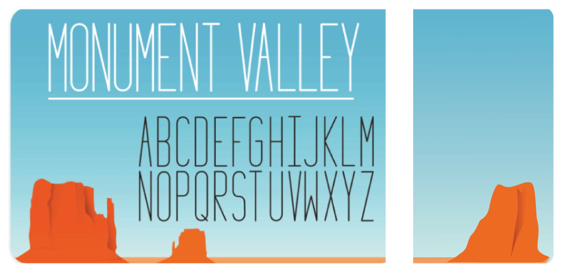 Royalty Free Sans Serif: Monument Valley