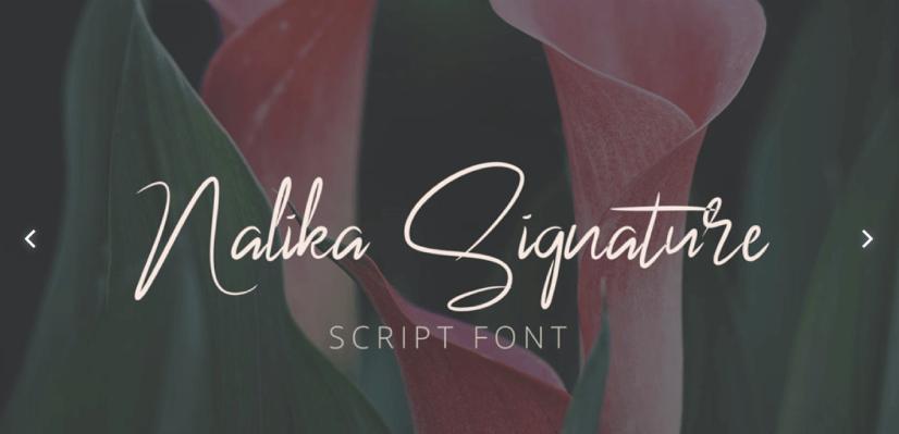 Free Script Fonts: Nalika Signature