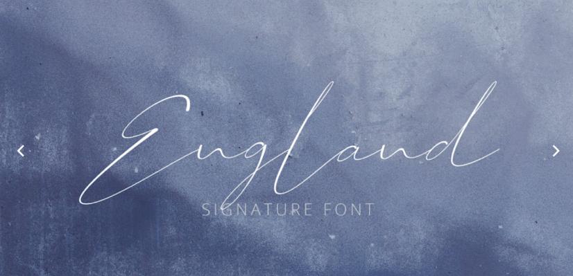 Free Script Fonts: England