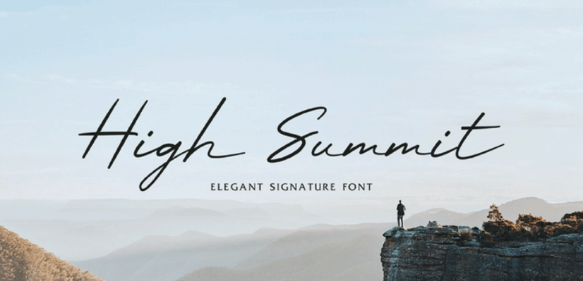 Free Script Fonts: High Summit