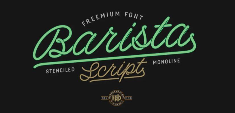Free Script Fonts: Barista