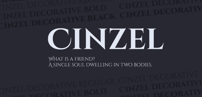 GraphicMama Hand-Picked Display Free Fonts: Cinzel