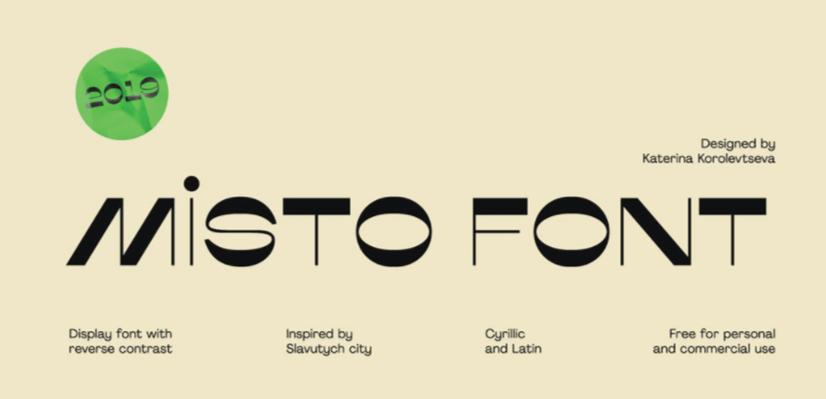 GraphicMama Hand-Picked Display Free Fonts: Misto