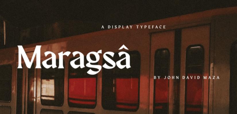 GraphicMama Hand-Picked Display Free Fonts: Maragsa