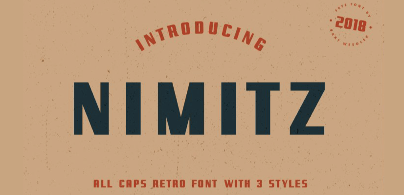 GraphicMama Hand-Picked Display Free Fonts: Nimitz