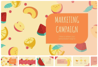 Free Food PowerPoint Templates: Fruits Marketing Campaign