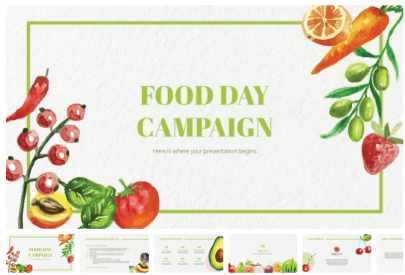 Free Food PowerPoint Templates: Food Day Campaign