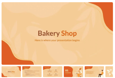 Free Food PowerPoint Templates: Bakery Shop