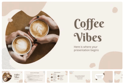Free Food PowerPoint Templates: Coffee Vibes