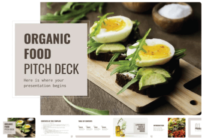 Free Food PowerPoint Templates: Organic Food Pitch Deck