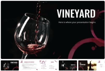 Free Food PowerPoint Templates: Vineyard Company Profile