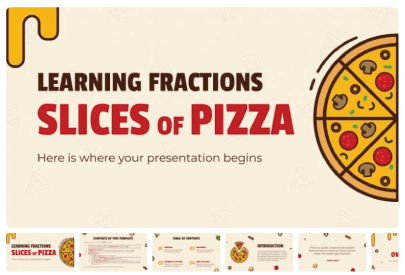 Free Food PowerPoint Templates: Slices of Pizza