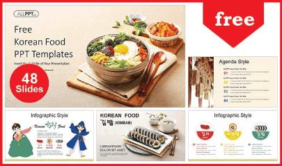 Free Food PowerPoint Templates: Korean Food