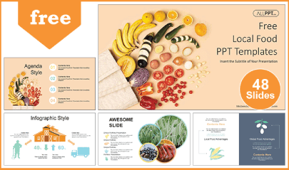 Free Food PowerPoint Templates: Local Food
