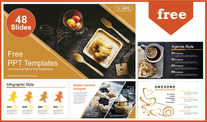 Free Food PowerPoint Templates: Freshly Baked Bread