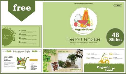 Free Food PowerPoint Templates: Organic Food