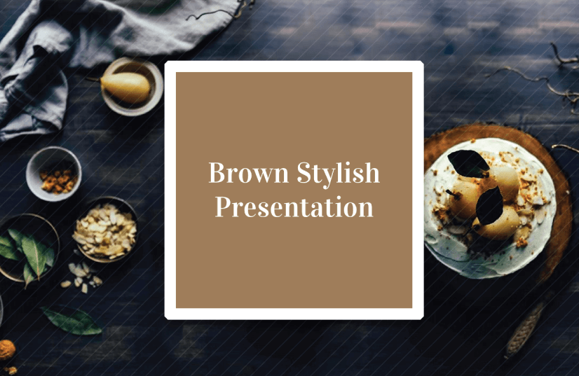 Free Food PowerPoint Templates: Brown Stylish