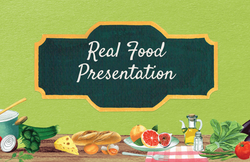 Free Food PowerPoint Templates: Real Food