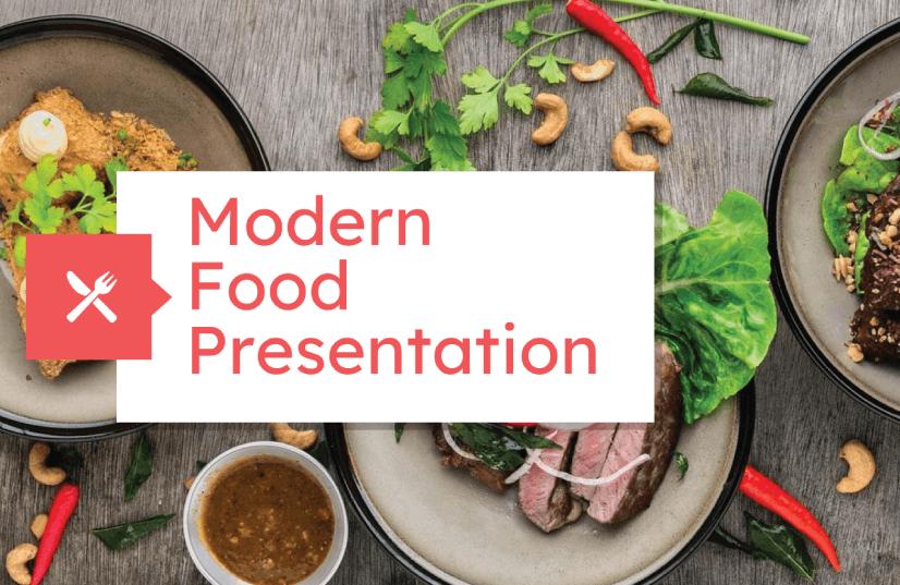 Free Food PowerPoint Templates: Modern Food