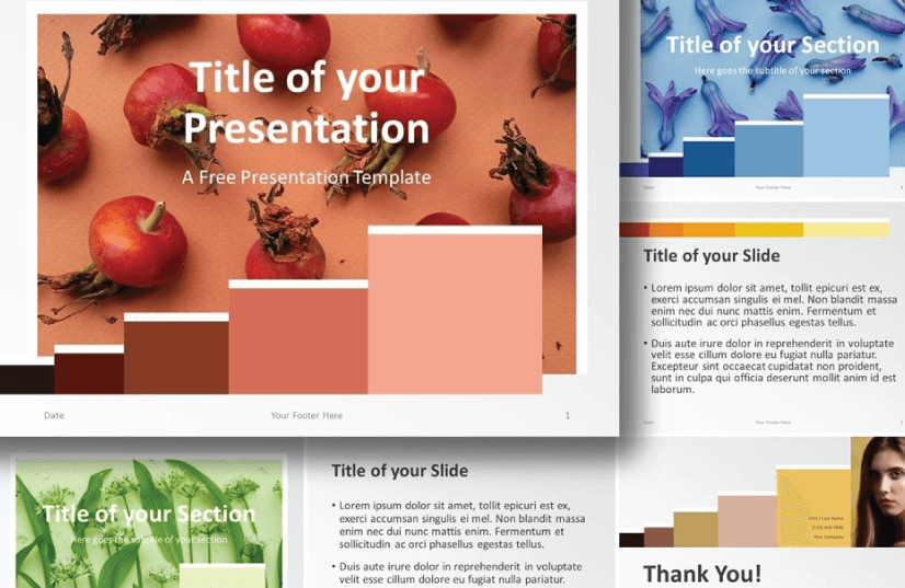 Free Food PowerPoint Templates: Chart Palette