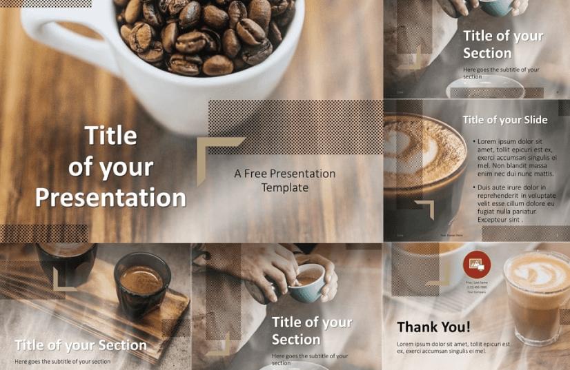 Free Food PowerPoint Templates: Barista