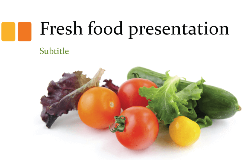 Free Food PowerPoint Templates: Fresh Food