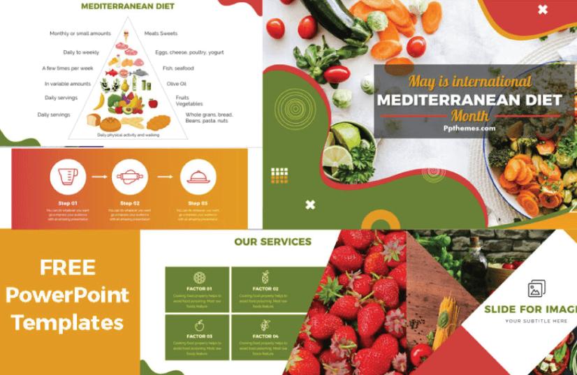 Free Food PowerPoint Templates: Mediterranean Diet