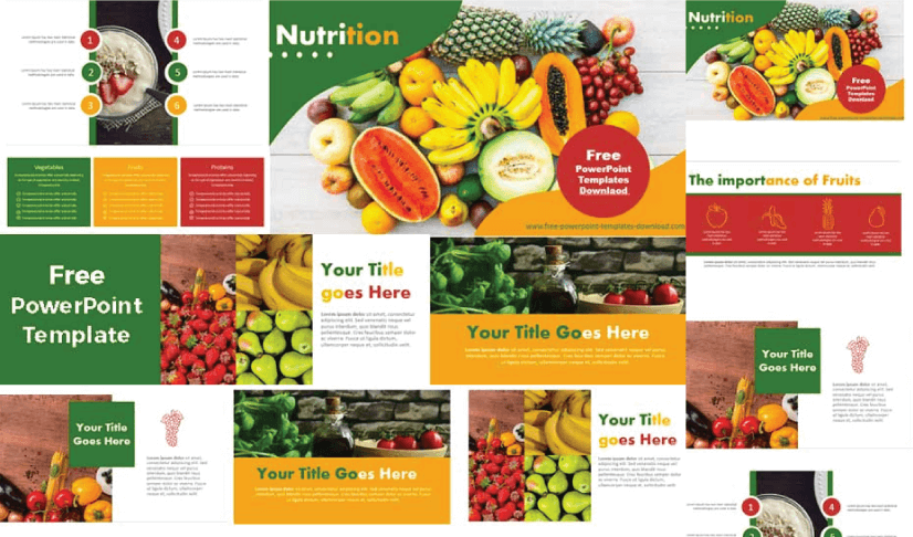 Free Food PowerPoint Templates: Nutrition