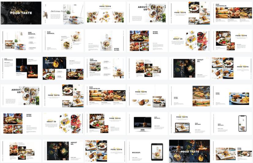 Free Food PowerPoint Templates: Food Taste