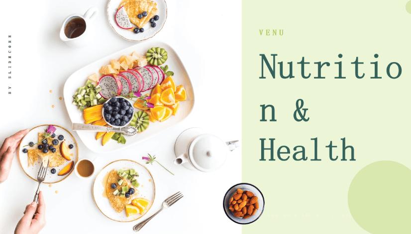 Free Food PowerPoint Templates: Venu – Nutrition & Health