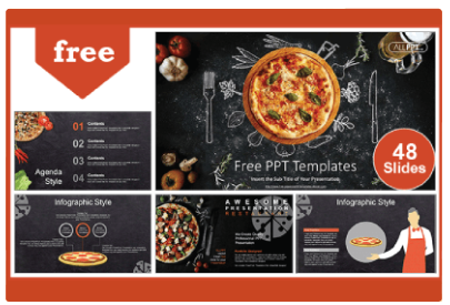 Free Food PowerPoint Templates: Pizza Restaurant