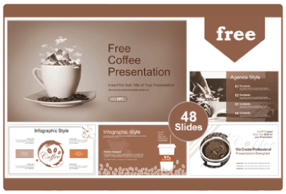 Free Food PowerPoint Templates: Coffee