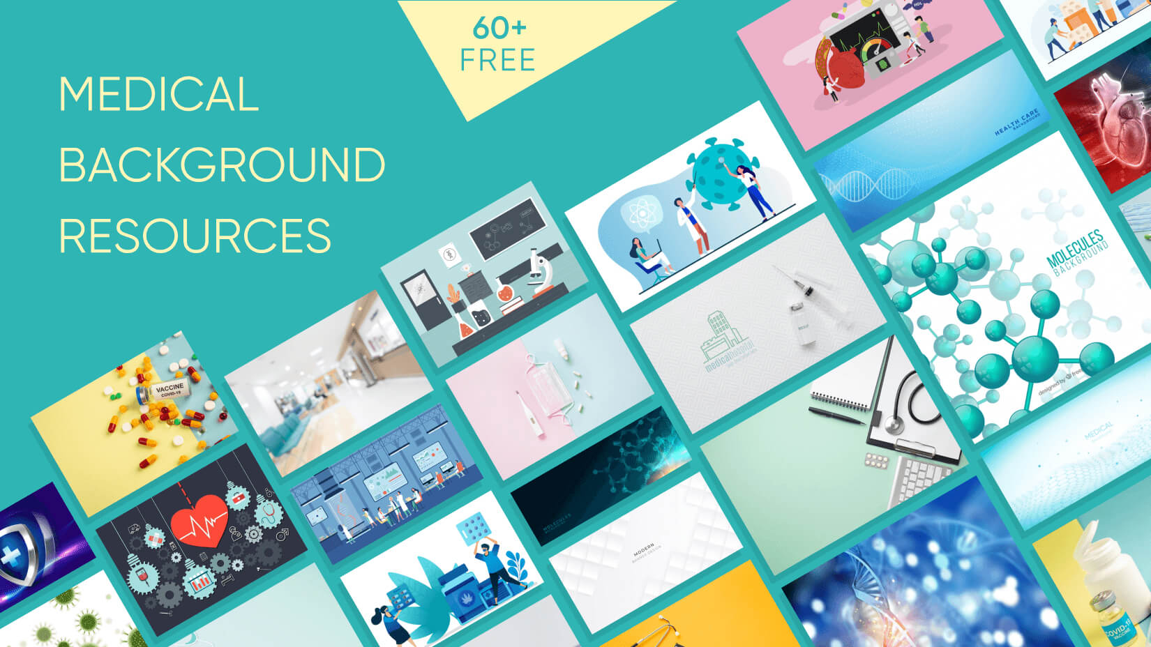 50 Free Medical Backgrounds with Modern Design