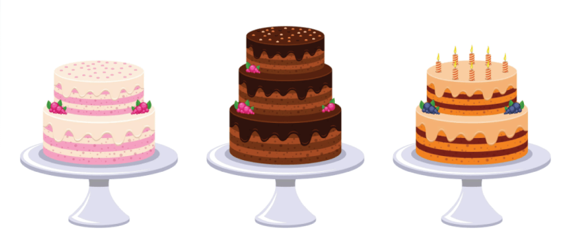Free Cake Illustration: Birthday Cakes