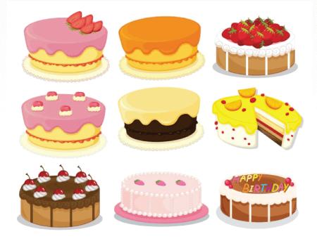 Free Cake Illustration: Decorative Cakes