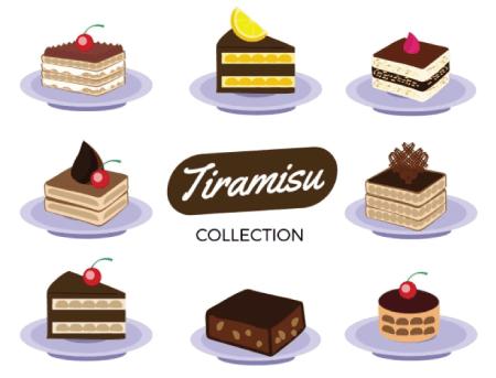 Free Cake Illustration: Tiramisu Cakes