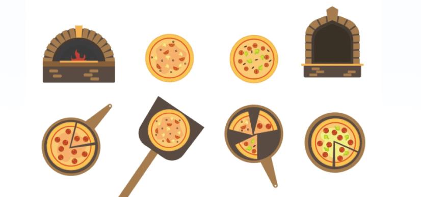 Free pizza illustration: furnace pizza