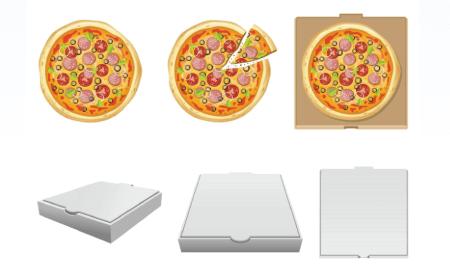 Free pizza illustration: fresh pizza delivery