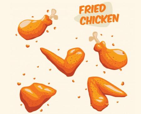 Free chicken illustration: fried chicken