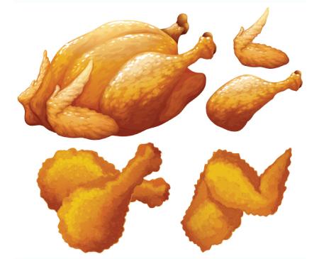 Free chicken illustration: more friend chicken
