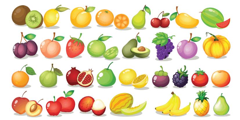 Free fruit illustration: Fruit set