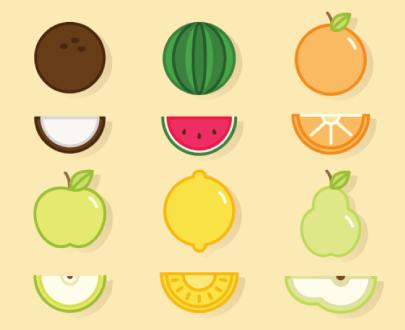 Free fruits illustration: Cute fruits