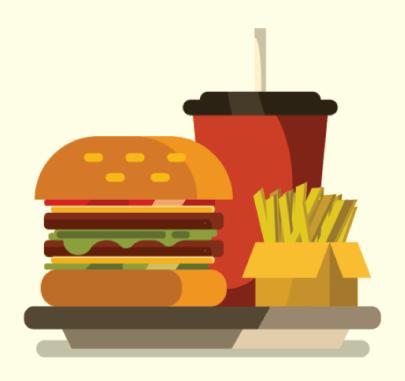 Free burger illustration: big burger meal