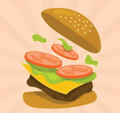Free burger illustration: summer burger