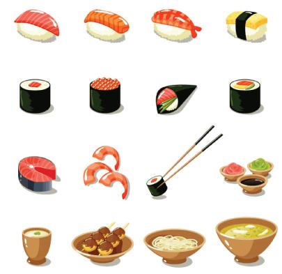 Free sushi illustration: Sushi and Japanese Cuisine