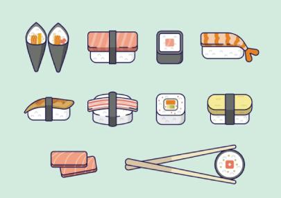 Free sushi illustration: Simplistic Sushi Illustrations