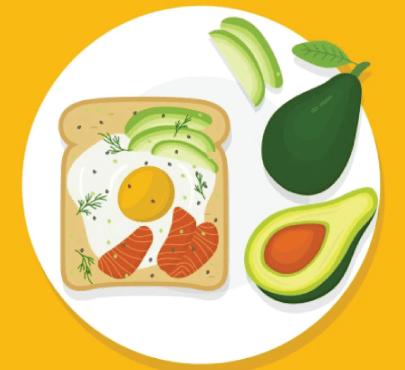 Free avocado illustration: Breakfast with Avocado