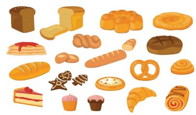 Free bread illustration: Various Bread