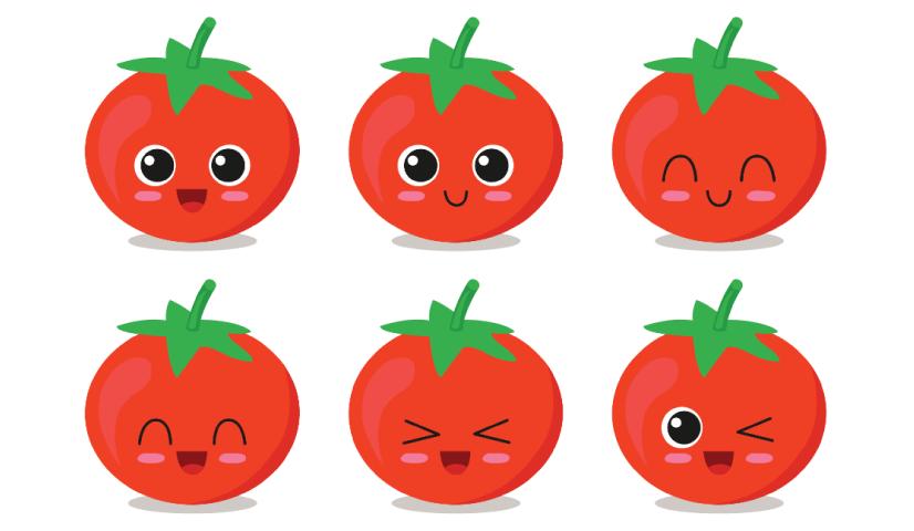 Free tomato illustration: Cute Tomato Character